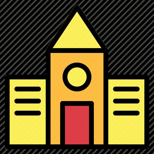 buildings, college, school icon
