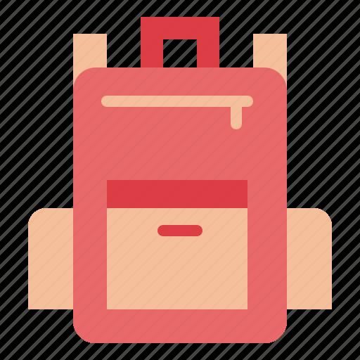 backpack, bag, baggage, luggage, travel icon
