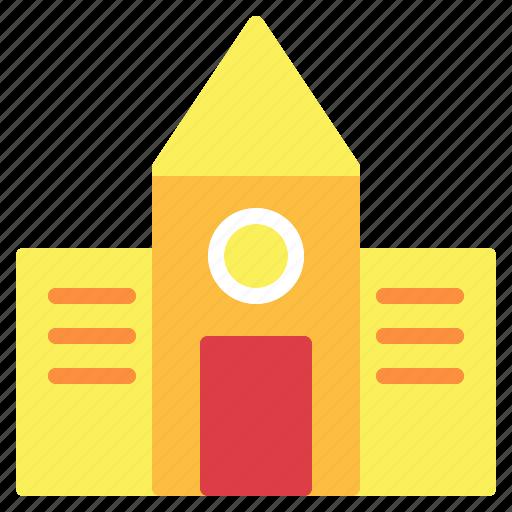 architecture, buildings, school icon