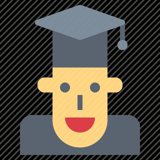 cap, graduation, student, university icon