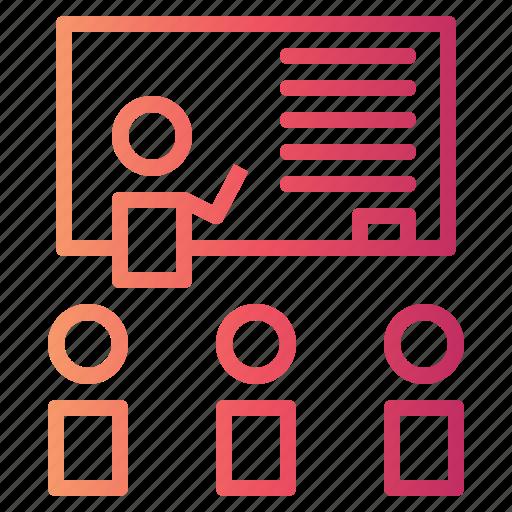 classroom, education, learning, presentation, student, teacher icon