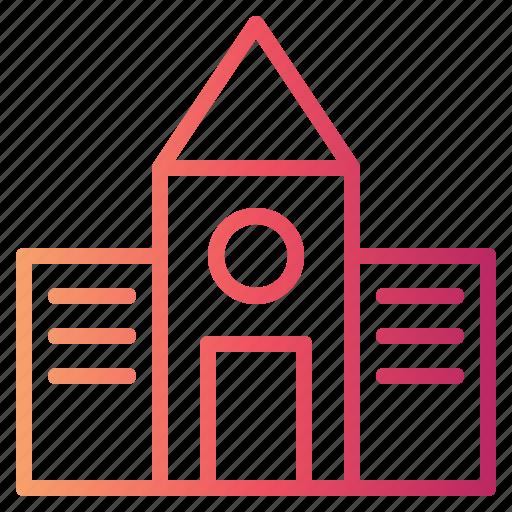 architecture, buildings, college, education, school icon