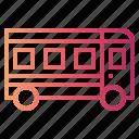 bus, school bus icon
