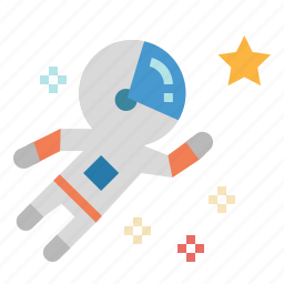 astronaut, astronomy, education, galaxy, science, space, star icon