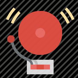 alarm, bell, education, notification, school icon