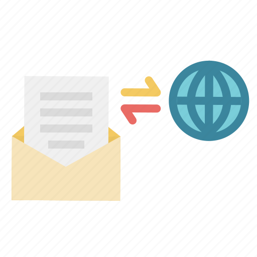 conection, email, envelope, mail, message, note, respond icon