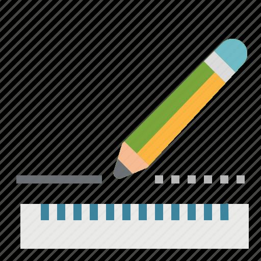 education, eraser, pencil, plan, ruler, school icon