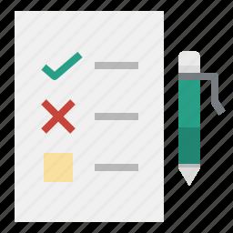 archive, document, education, exam, file, pen, test icon