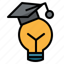 cap, education, graduate0a, idea icon