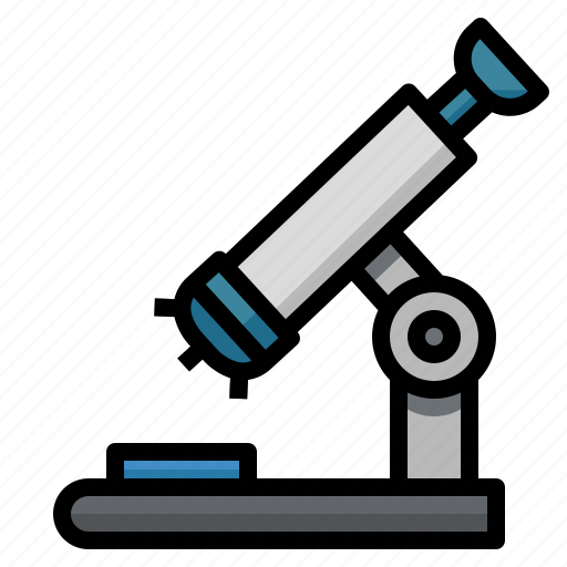 medical, microscope, observation, science, scientific, tools icon