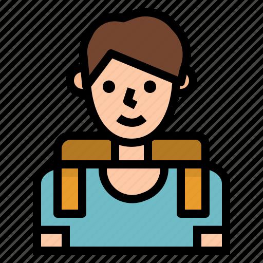 boy, education, school, student icon