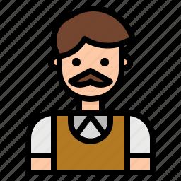 avatar, dad, father, man, profession, teacher icon