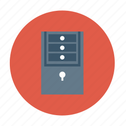 cupboard drawers, drawer, drawer box, locker, storage drawers icon