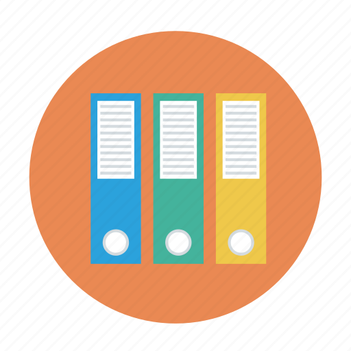 document, files, folders, office files, record files icon