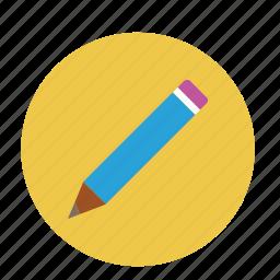 edit, kid pencil, lead pencil, pen, pencil icon