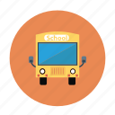 bus, kids bus, kids school bus, school bus, yellow bus icon