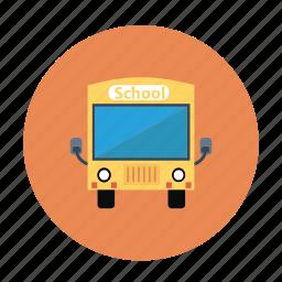 bus, kids bus, kids school bus, school bus, yellow bus icon