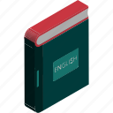 book, education, english book, english encyclopedia, learning, reading, study icon