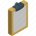 clipboard, form, list, memo, notation, note, record icon