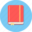 book, diary, note, note book, study icon