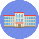 building, college, hostel, hotel, shool, university icon