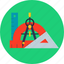 geometry, math, school, student, study icon