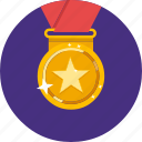 achievement, award, gold, gold medal, medal, trophy icon