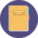 book, bookschool, diary, note, note book, study icon