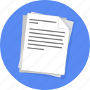 copy, new, note, papers, reading, school, writing icon