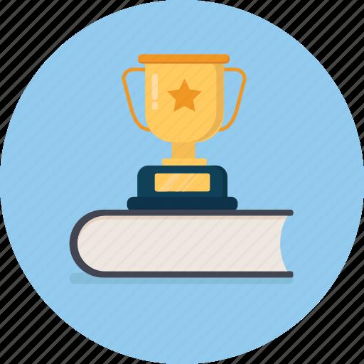 achievement, award, book, cup, trophy, winner icon