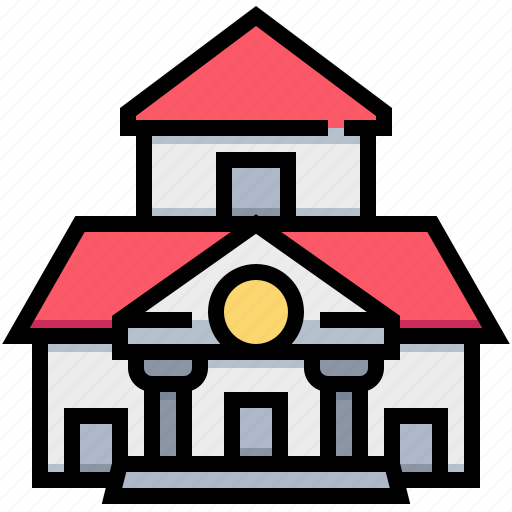 building, education, learning, school icon