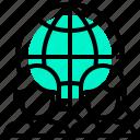earth, exchange, global, man, woman, worldwide icon