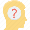 brainstorming, confuse, confuse brain, question, question mind icon