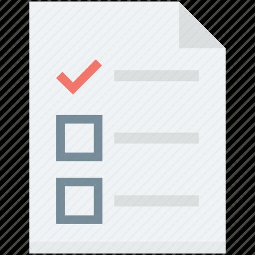 agenda, checklist, memo, plan list, to do icon
