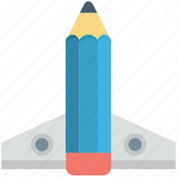 missile, pencil, rocket, spacecraft, startup icon