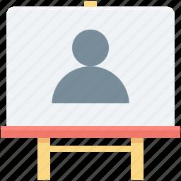 artboard, canvas, chalkboard, drawing, writing board icon