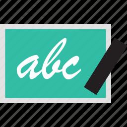 abc, board, chalk, education, learning, school icon