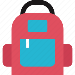 back, backpack, education, learning, pack, school icon