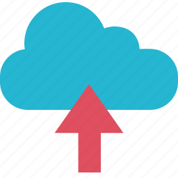 arrow, cloud, education, learning, school, up icon