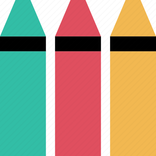 crayola, crayons, education, learning, school icon
