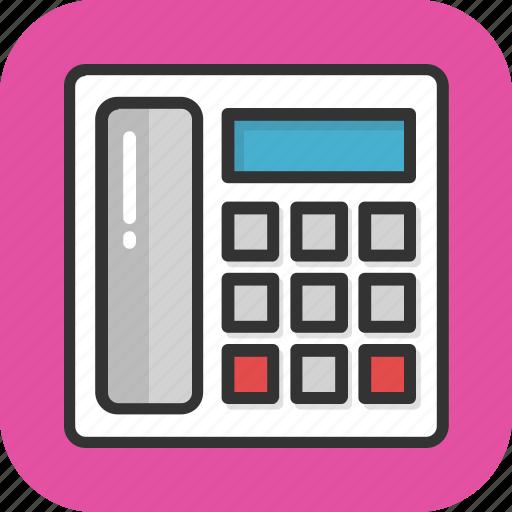 call, communication, contact, landline, telephone icon