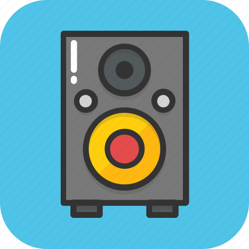 audio, media, sound, speaker, woofer icon