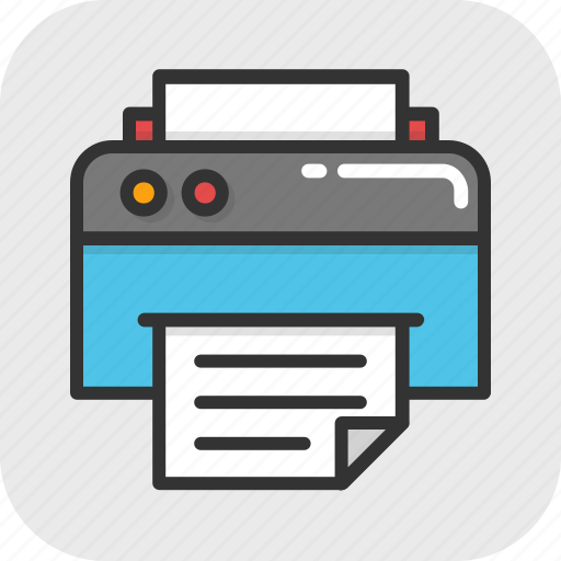 facsimile, fax, fax machine, inkjet printer, printer icon