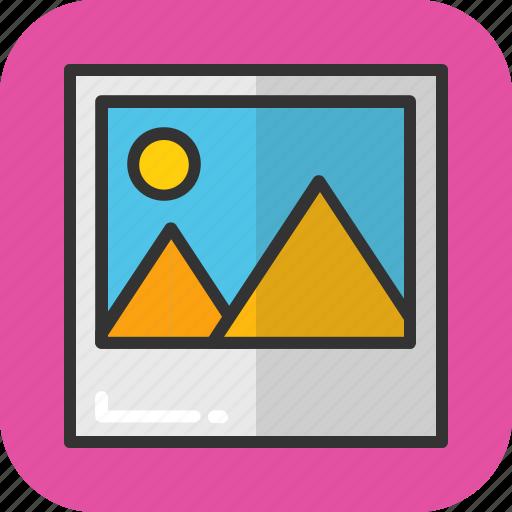 image, landscape, photo, picture, portrait icon