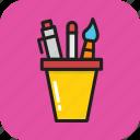 pen, pencil, pencil case, school, stationery