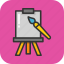blackboard, canvas, chalkboard, easel, whiteboard icon