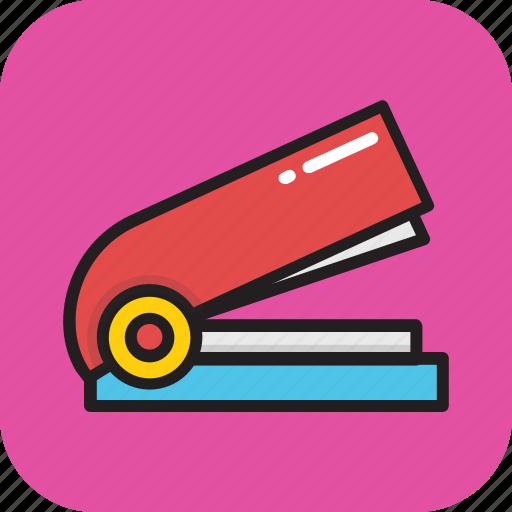 office, office supplies, paper stapler, stapler, stationery icon