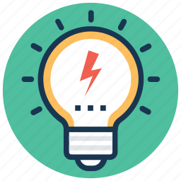 bright idea, creativity, inspiration, light bulb, luminaire icon