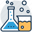 beaker, chemistry lab, conical flask, laboratory apparatus, laboratory glassware icon