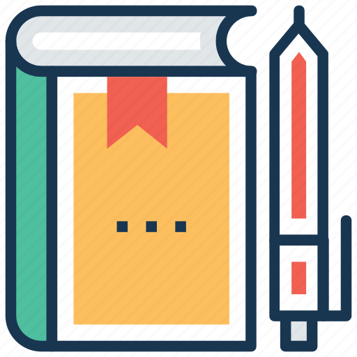 book, library, literature, notebook, notes icon